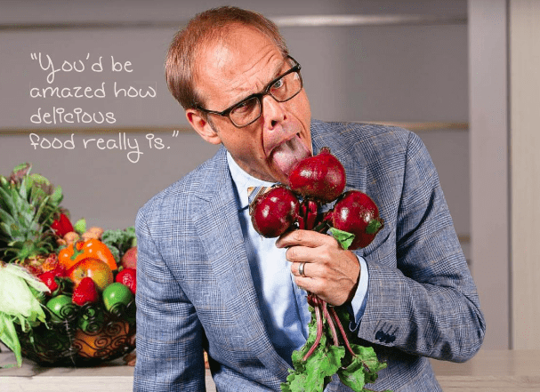 Alton Brown with Turnips