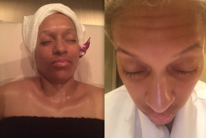 Before and after. My skin was spotless!