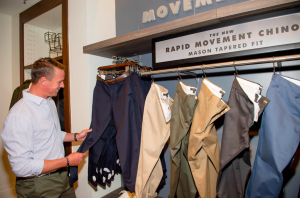 Matt Ryan checks out the new Rapid Movement Chino Collection at the Banana Republic store inside Lenox Square.