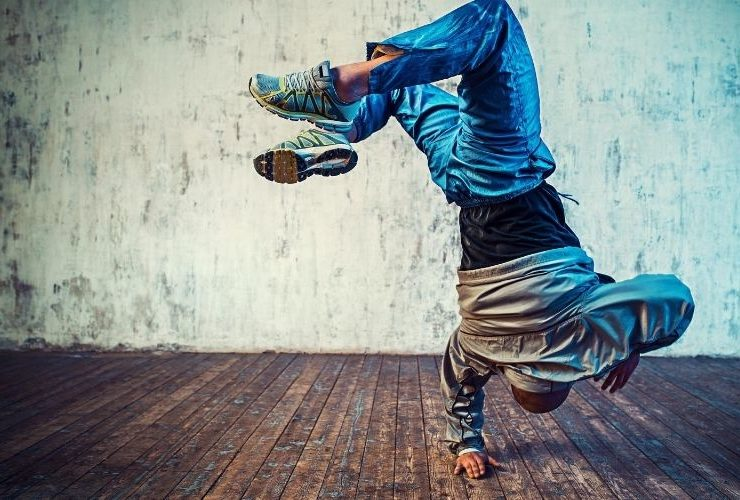 Man doing a breakdance move.