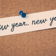 """New Year New You"" bulletin board tack."