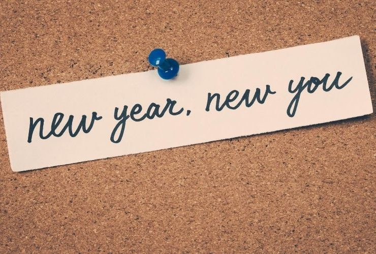 """New Year New You"" bulletin board tack."