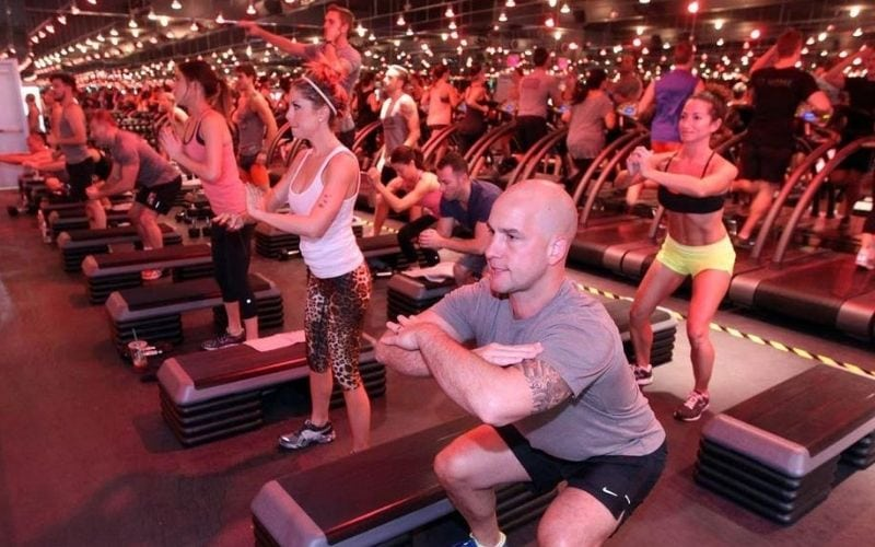 Workout class at Barry's Bootcamp in Atlanta.