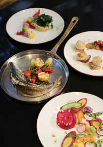 Trade Root Dishes at The Whitley, a Luxury Collection Hotel
