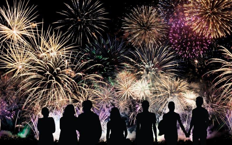 People watching fireworks.