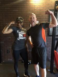 Owner and instructor Kanesha Britt, Best Self Staffer David Leonard