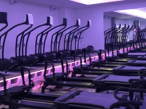 The Woodway Curve treadmills and Megaformers.