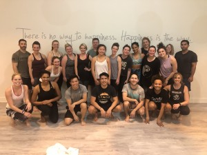 Happy attendees after class.