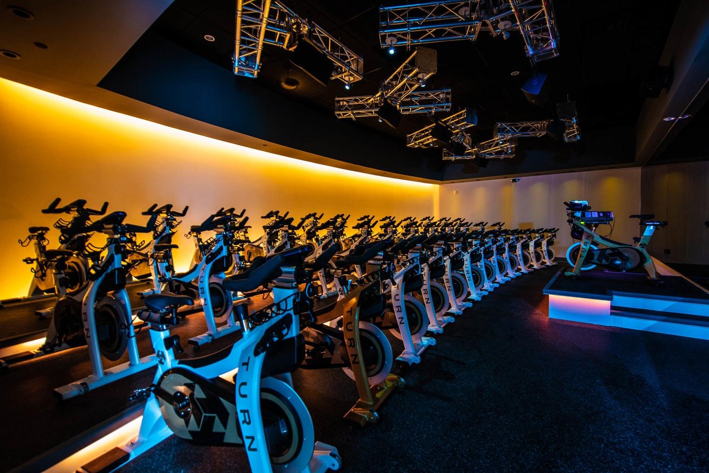 Turn Studio's cycling room.