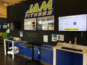The JAM Fitness entry way