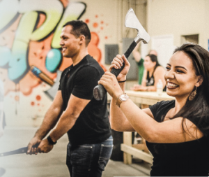 Bad Axe Throwing in Atlanta Makes For Memorable Networking Events!