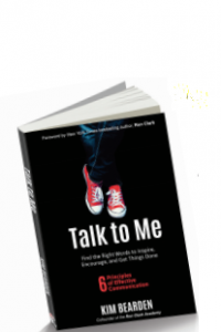 "Kim Bearden's new book, ""Talk To Me""."