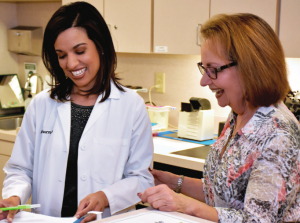 (L to R): Dr. Anar Maurya, Helene Dworitz Reynolds