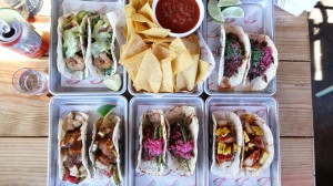 Assortment of tacos
