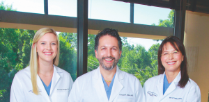 (L TO R): ANN PATRICK MEAGHER, DR. FARZAD R. NAHAI, MARY POPP