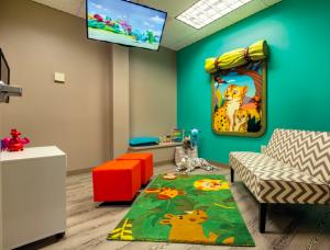 Kid-friendly waiting room at Nia Pediatric Dentistry