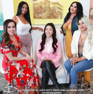 (L TO R): Quynh Do, Alicia Scott, Nancy Shim, Alexandra Blair, Yanyse Maldonado