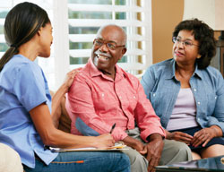 home health care patient and caregivers