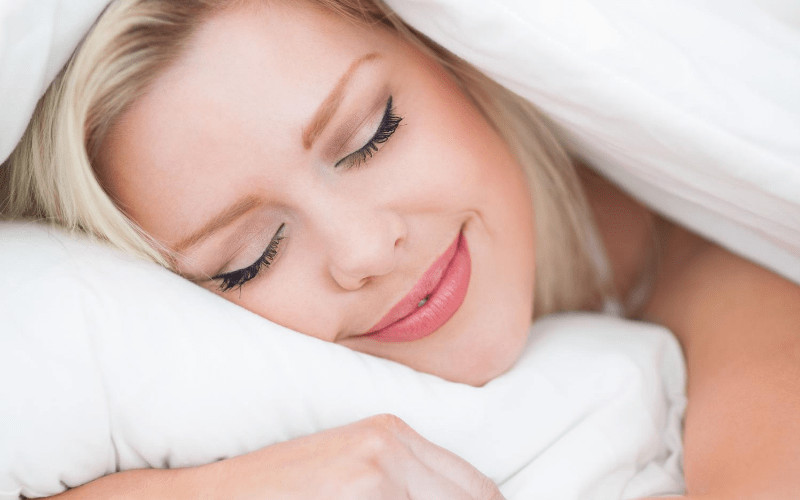 Woman peacefully sleeping