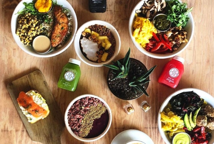 Various Colorful Foods from SAMA food for balance