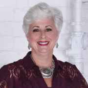 Christiane Wyckoff at The Fairmont poses for her photo at the 2020 Over 40 & Fabulous photo shoot