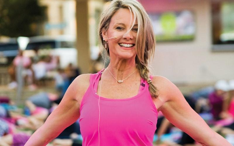 Kim Saunders, Yoga instructor, Over 40 & Fabulous winner