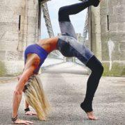 Kristen Marotte show off her yoga pose