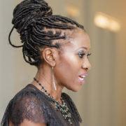 Beautiful Kwavi Agbeyegbe speaks at an event
