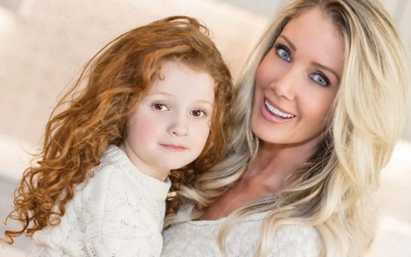 Tonya Guillory with her daughter