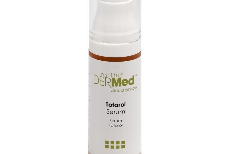 Totarol serum bottle with white background.
