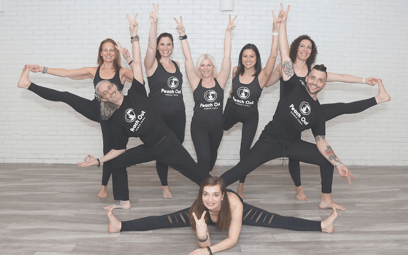 The team at Peach Out Power Yoga