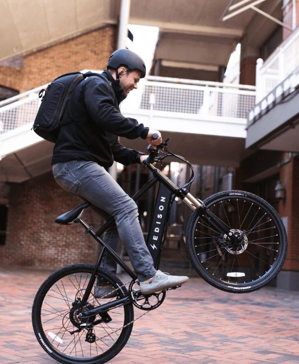 Ryan Hersh on a Edison Bike