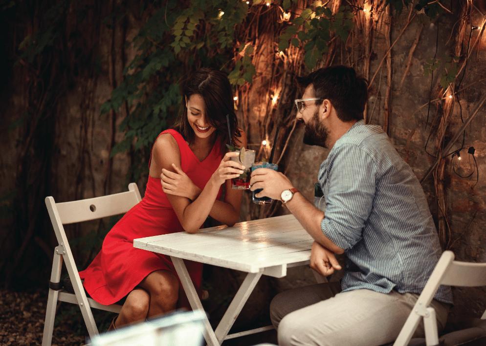 Couple enjoying dinner