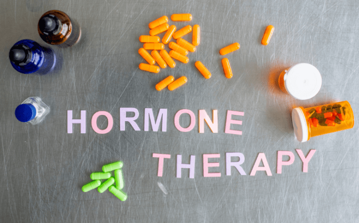 Hormone therapy stock image