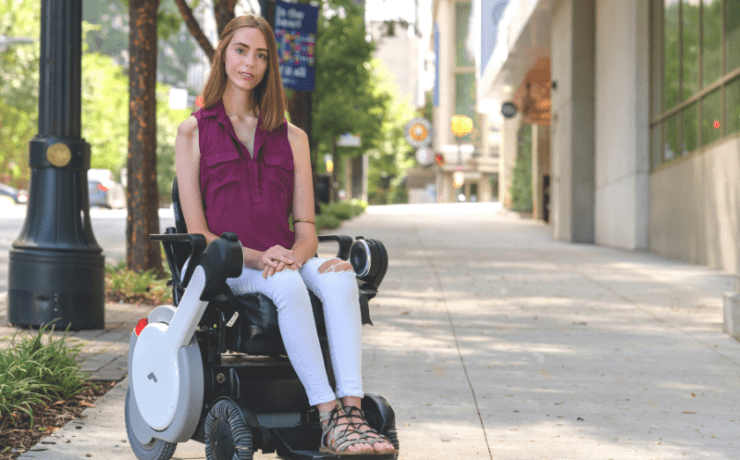 Carden Wyckoff in wheelchair in Midtown