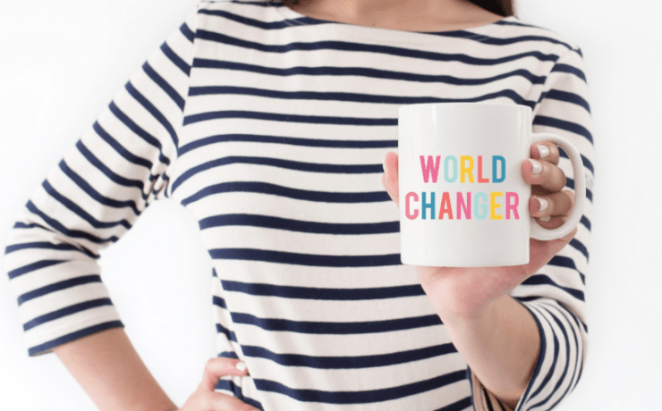 World Changer cup from Lucky & Lovely