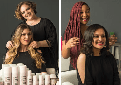 Blo Blow Stylists work with clients to create beautiful looks.