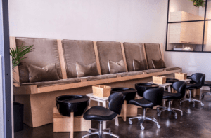 Pedicure chairs at The Water Room