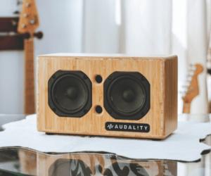 Audality Wireless Speaker in wood