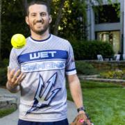 Eddie Lacher throwing a ball