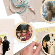 Friend groups in a scrapbook style
