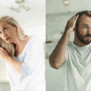 woman and man losing hair