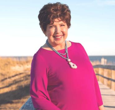 Mary Kay Andrews at the beach